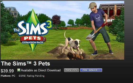 The sims 3 pets | pc / mac game key | keenshop.