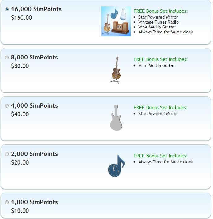 Sims 3 Store - New Simpoint Bundle Content 8/24/11 | SimsVIP