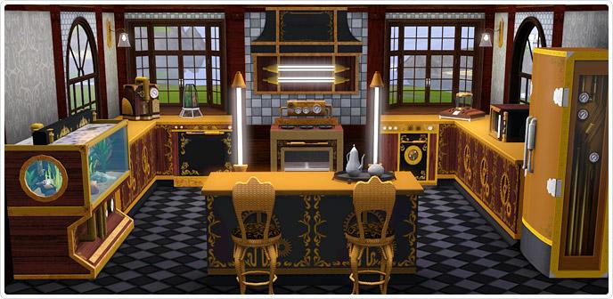 Sims 3 Store Sneak Peak Steampunk Kitchen Set Simsvip