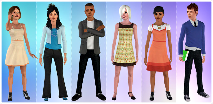 Downloads / Sims 2 / Clothing / Female / Teen / Everyday