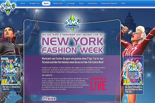 The Sims 3 New York Fashion Week Germany Simsvip