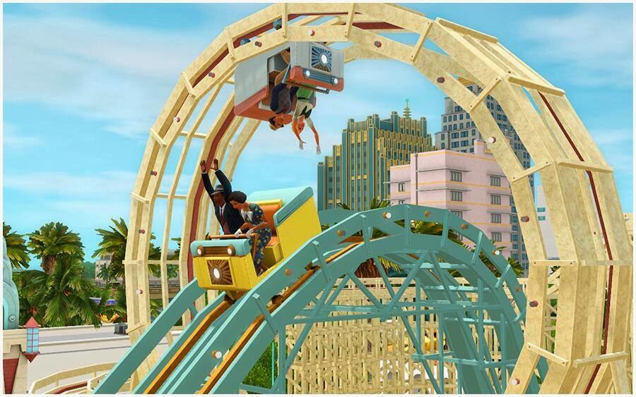 Sims 3 Roaring Heights: Roller Coaster Fun | SimsVIP