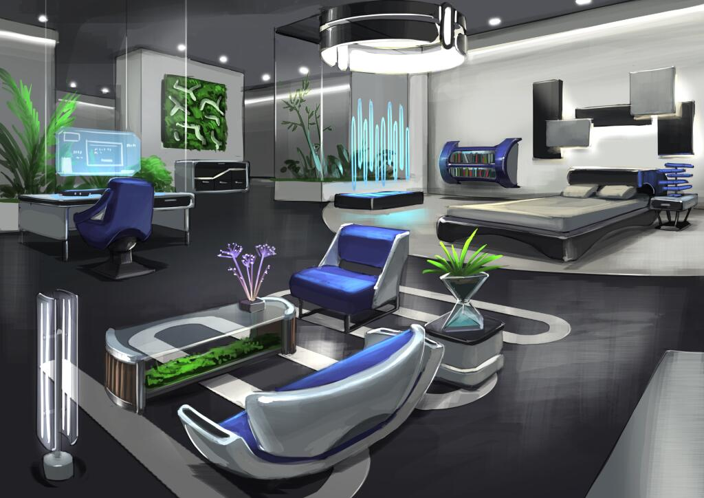 Sims 3 into the future concept art simsvip for In home concepts
