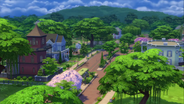 The sims 4 official world name willow creek simsvip for Willow creek mansion