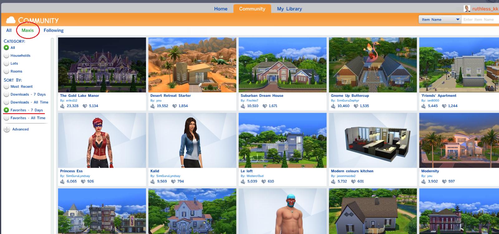 The Sims 4 Tutorial: Using the Gallery | SimsVIP