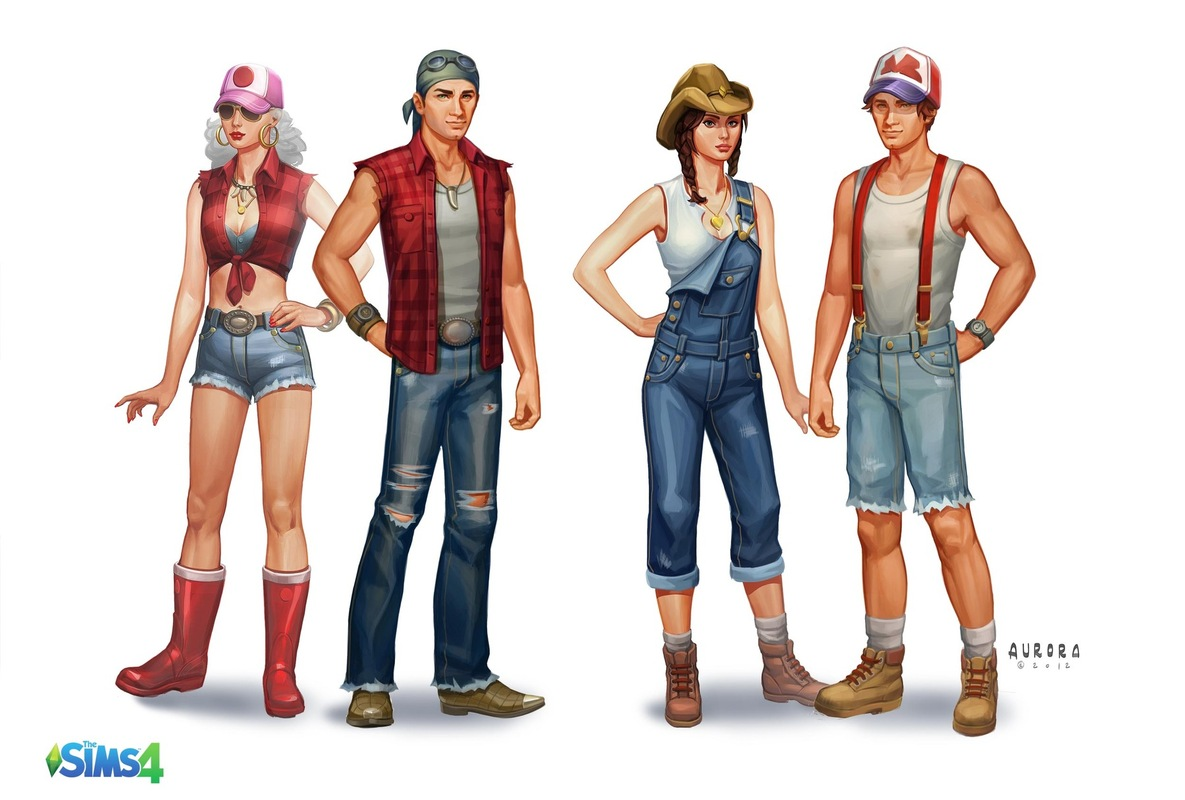 Sims 3 Cartoon Characters : The sims concept art by aurora jimenez simsvip