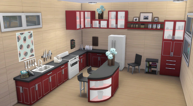 The Sims 4 Cool Kitchen Preview by SimFans | SimsVIP