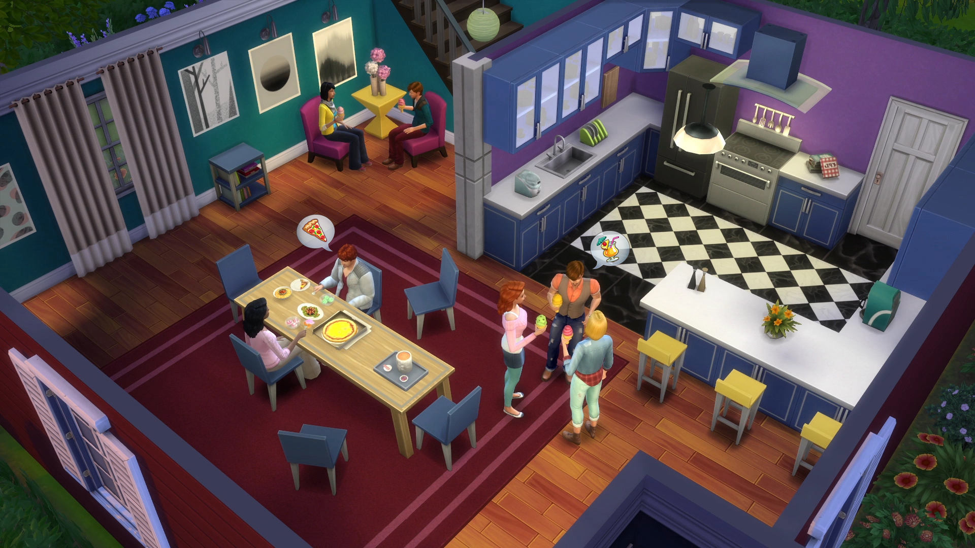The Sims 4 Cool Kitchen New Screenshot Simsvip