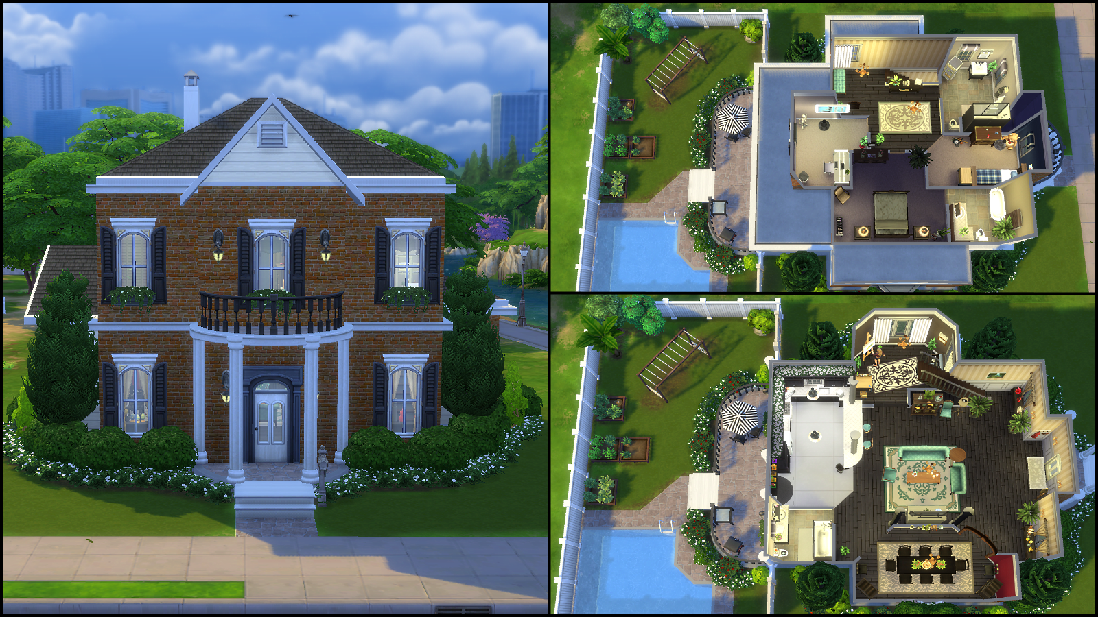 sims 4 floor plans. With an open floor plan  this two bedroom three bath home is warm and inviting The includes a front parlor kitchen office formal dining Sims 4 Gallery Spotlight SimsVIP