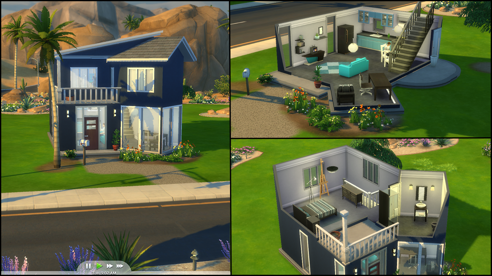 Navy Nest 2 - View Starter Sims 4 Small House Ideas Pics