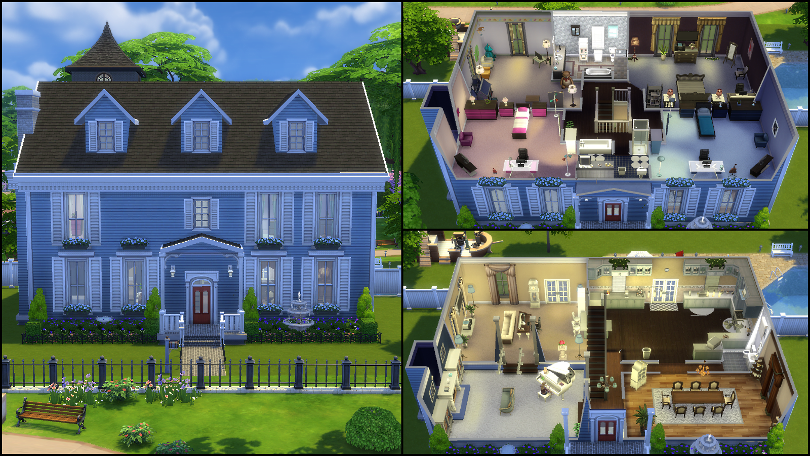 7 new colonial by allibob09 190 197 the traditional design the sims 4 gallery spotlight - Sims 4 Home Design