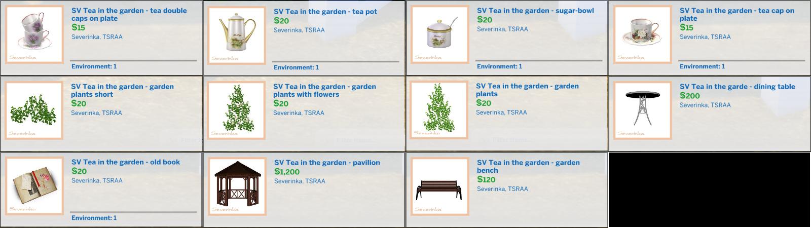 Tea in the Garden SV