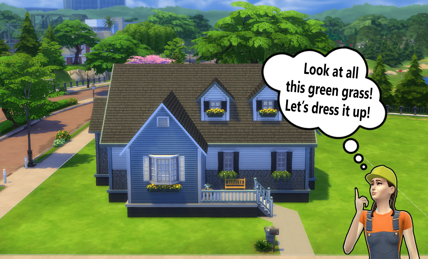Building for beginners in the sims 4 landscaping for House build ideas