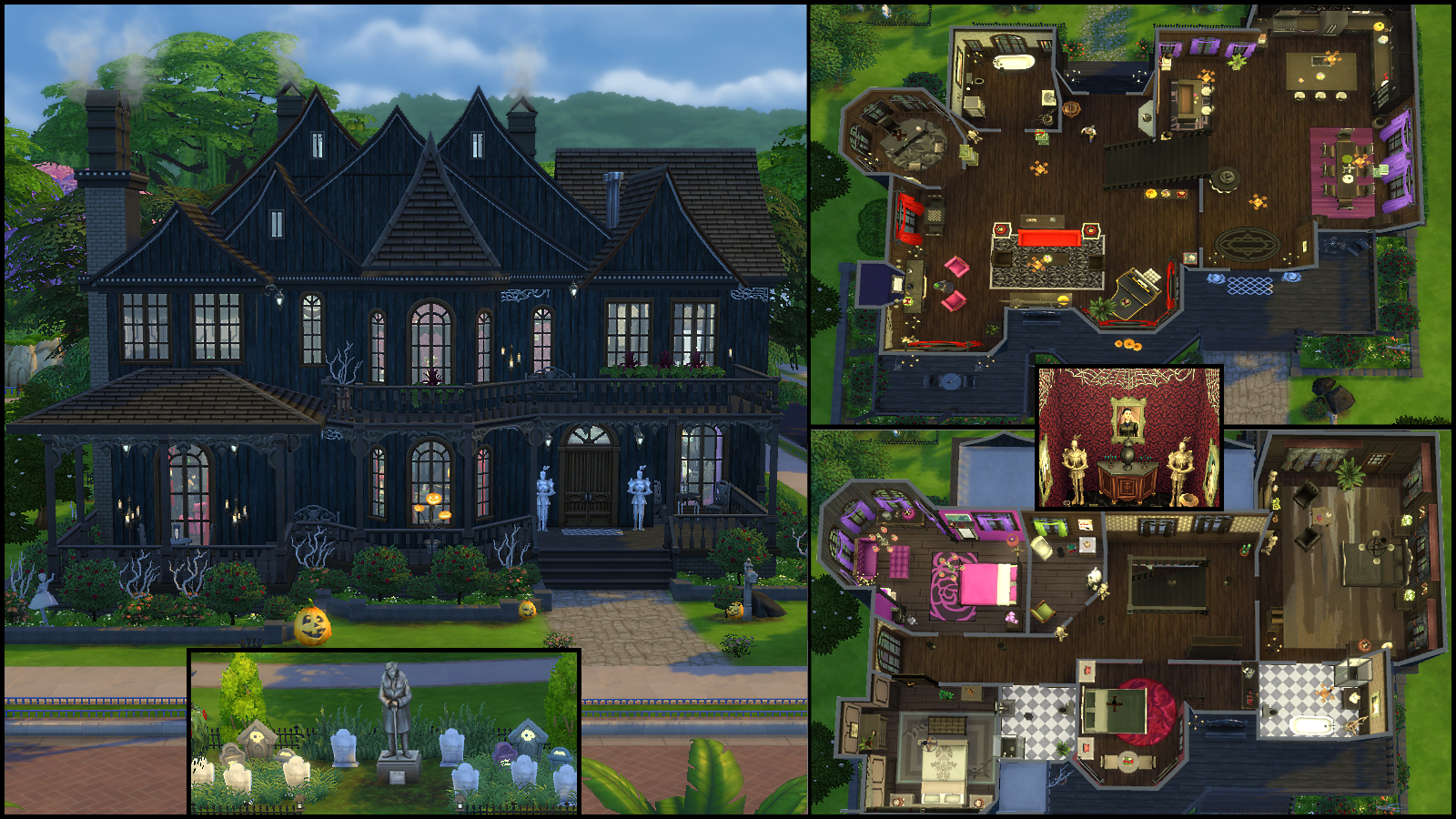 The sims 4 mansion floor plans for Mansion floor plans sims 4