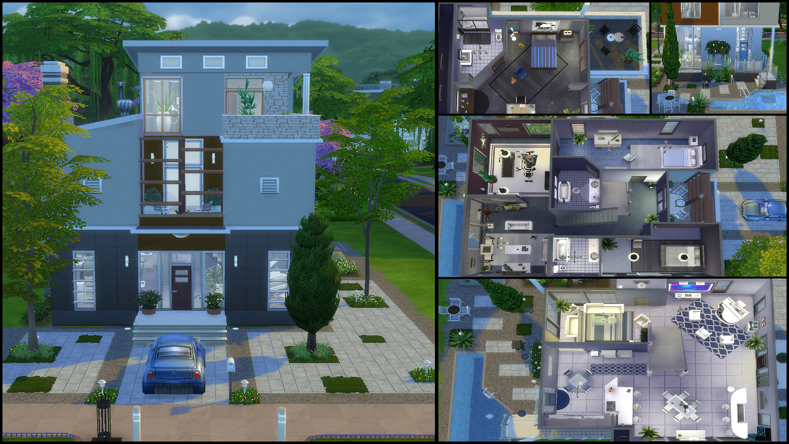 The sims 4 simple house design modern design for Mansion floor plans sims 4
