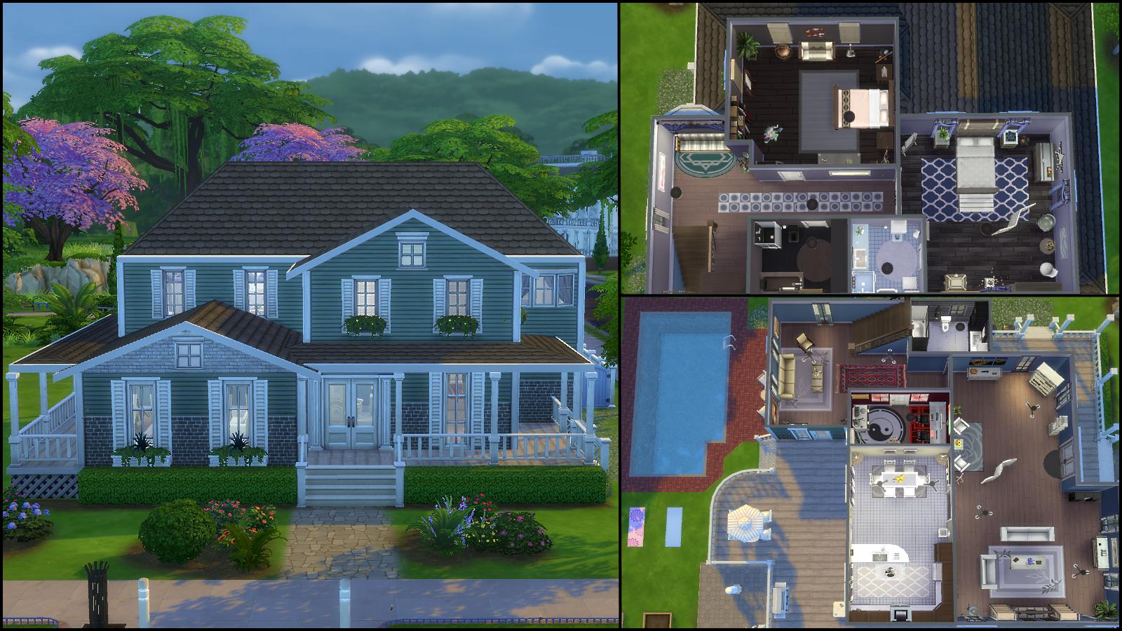 Sims 4 family house floor plan for 4 family house plans