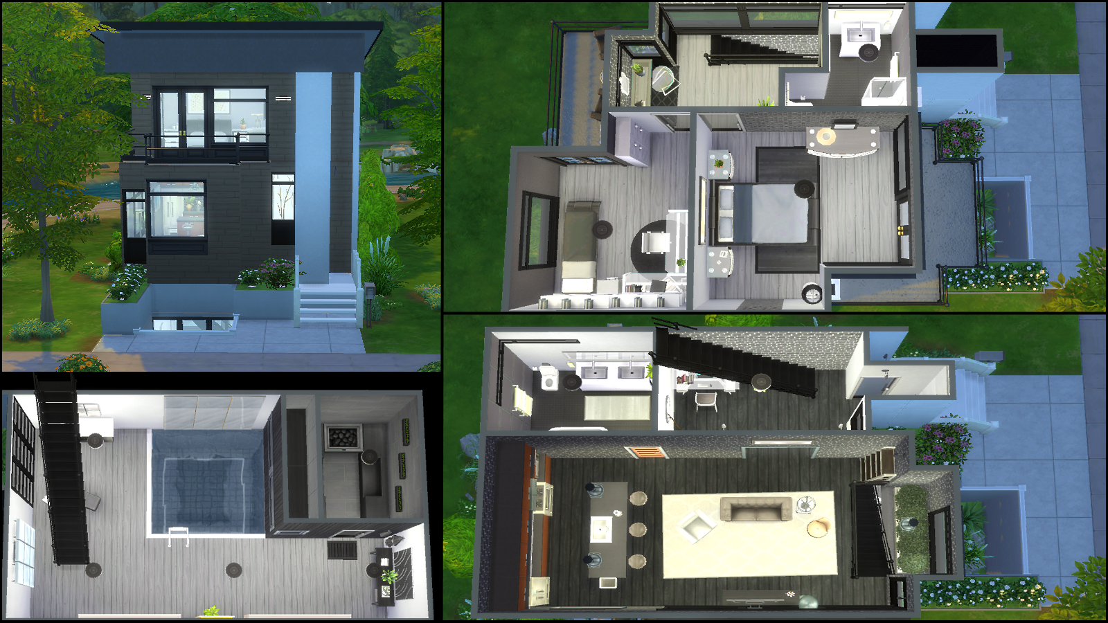 Modern house floor plans sims 4 for Sims 4 house plans