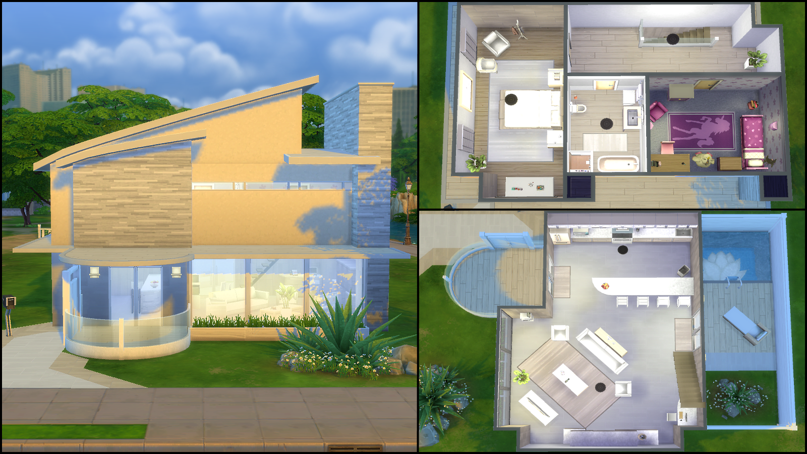 28 house plans for sims 4 sims 3 5 bedroom house for Sims 4 modern house plans