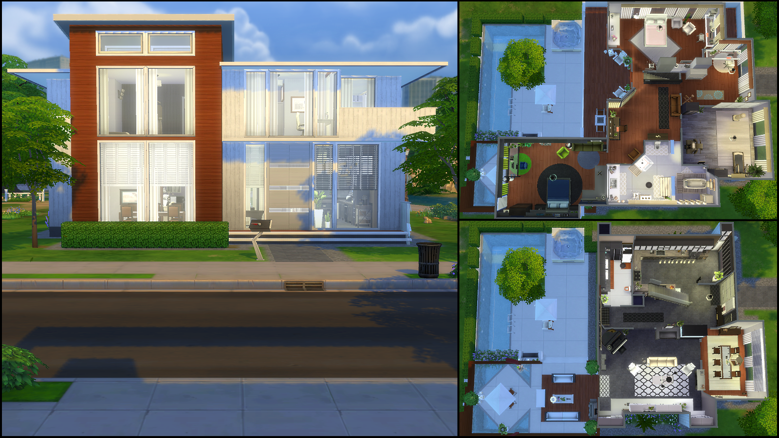 The sims 4 gallery spotlight simsvip for Big modern house sims 4