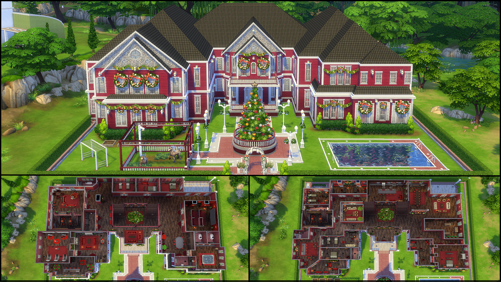 Sims 4 family house plans for Mansion floor plans sims 4