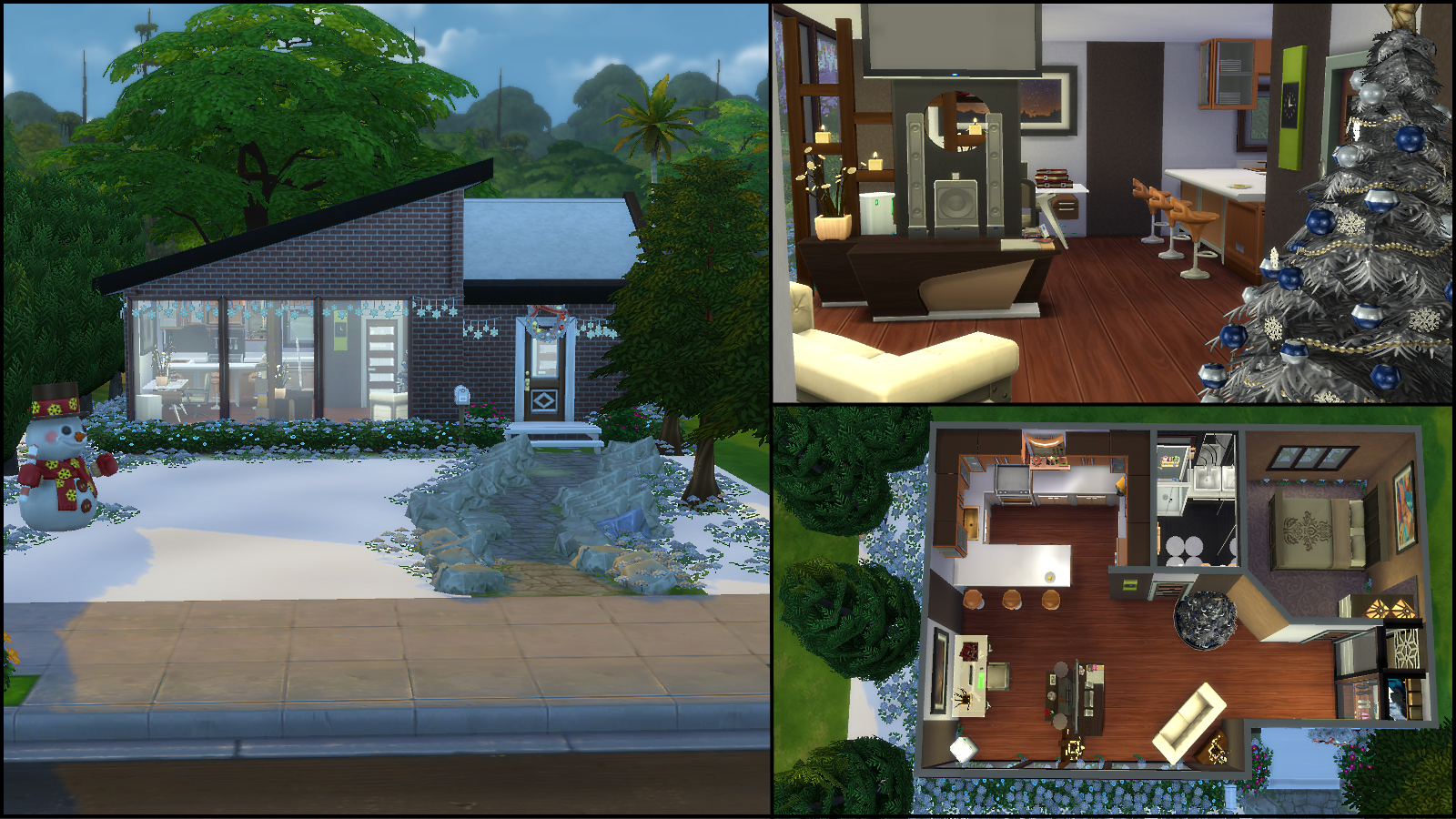 ^ Sims 4 Modern House Floor Plans