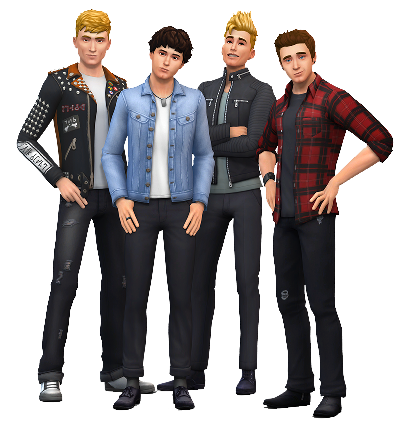 The Sims 4 Quot The Vamps Band Quot Render Simsvip