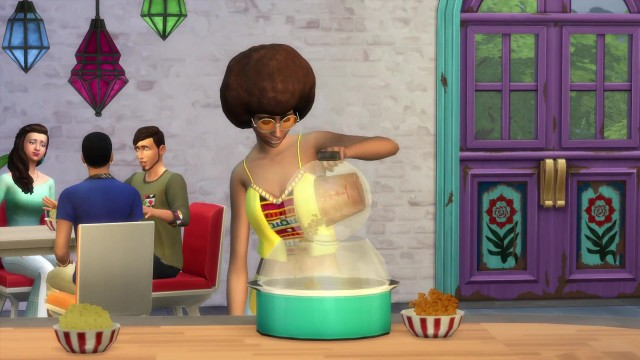 The Sims 4 Movie Hangout Stuff- Official Trailer 0550