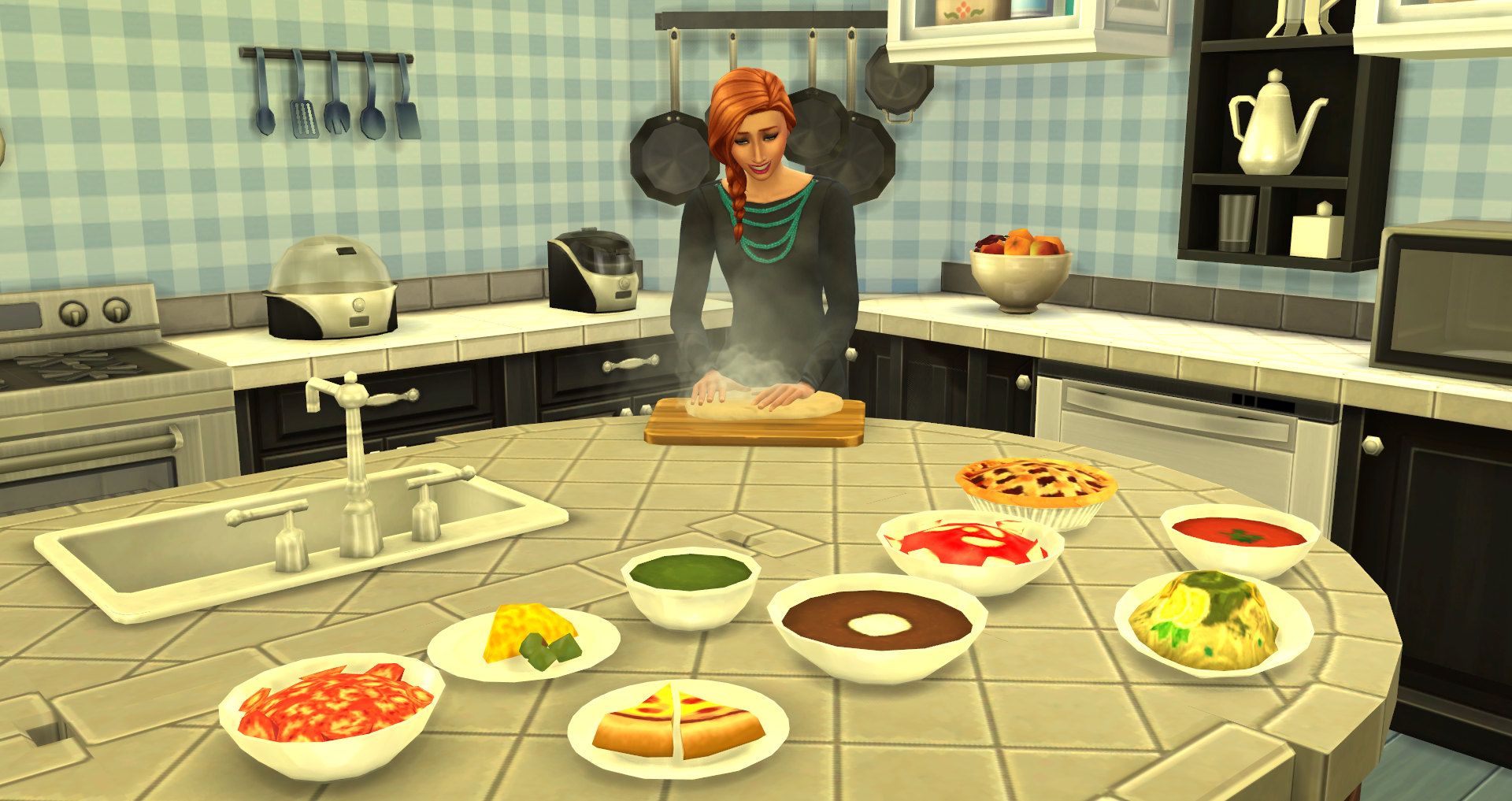 Yellow Kitchen Decor The Sims 4 Custom Food Showcase Simsvip
