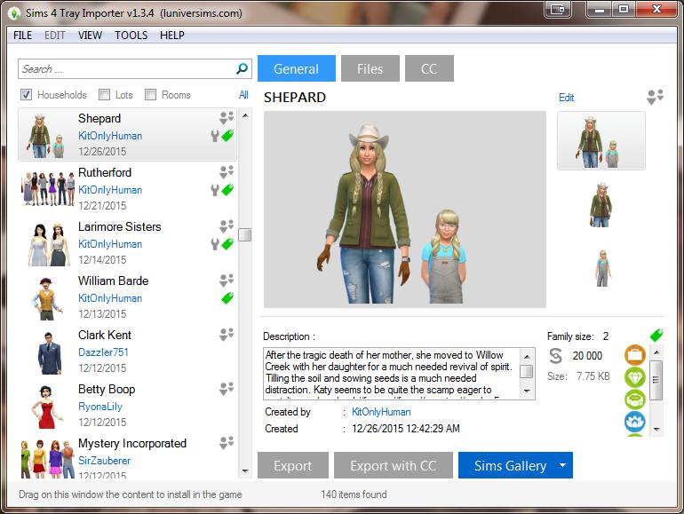 Custom Showcase: The Sims 4 Tray Importer by Deevo | SimsVIP