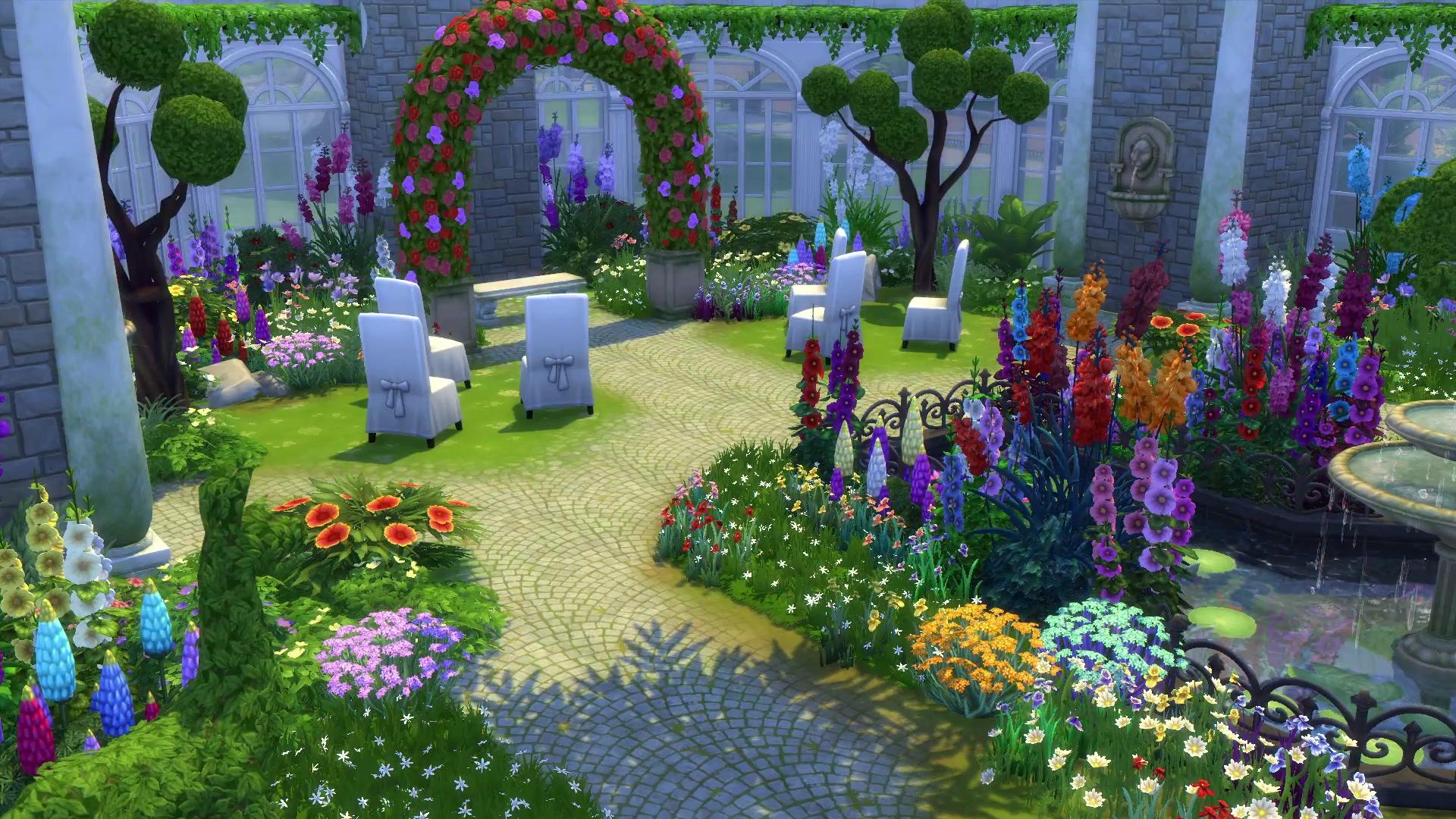 Výsledek obrázku pro the sims 4 romantic garden