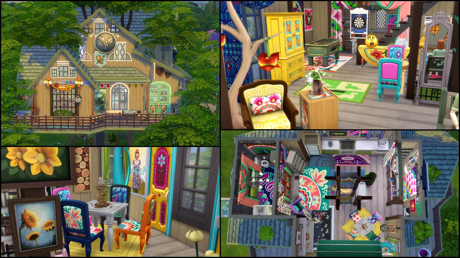 Urban treehouse sims 4 houses - Boho Treehouse Hangout By Qtchin 102 979