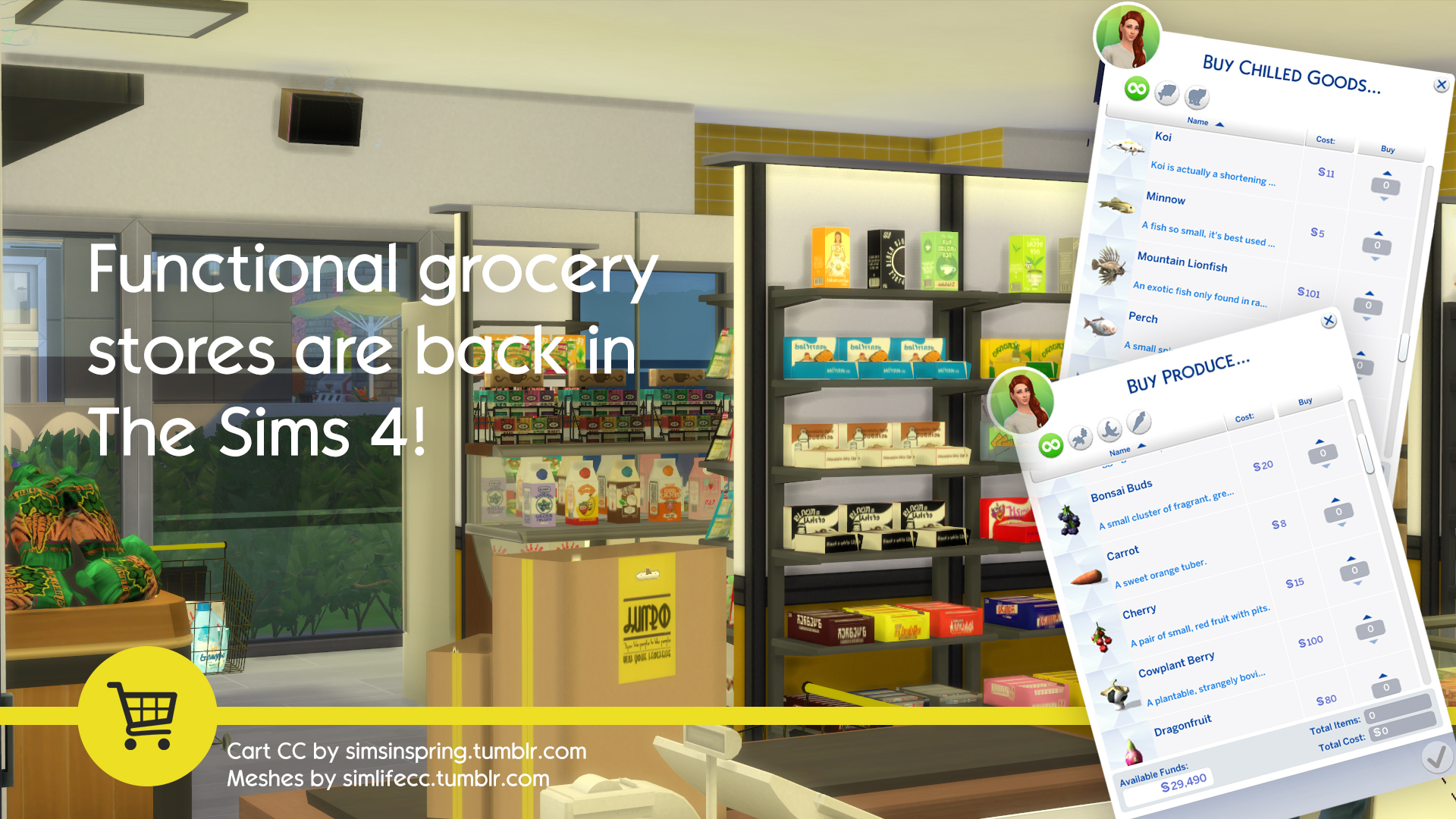 The Sims 4 Grocery Mod Now Available Simsvip