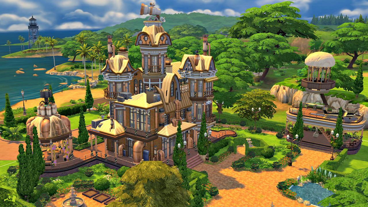 steampunk villa