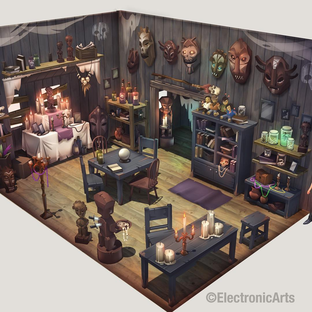 The sims 4 concept art by miles dulay simsvip for Interieur online