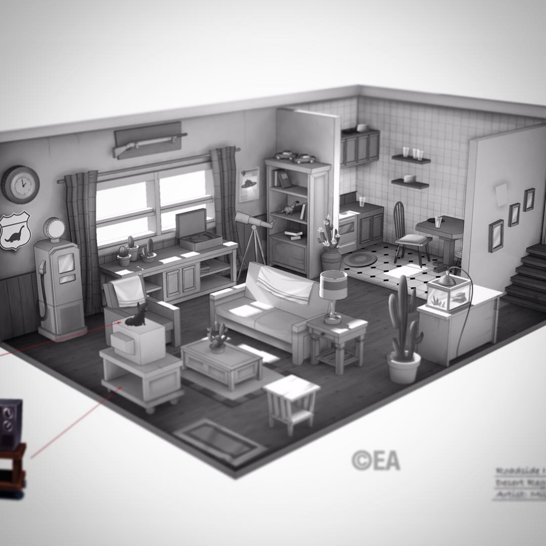 The Sims 4 Concept Art By Miles Dulay Simsvip