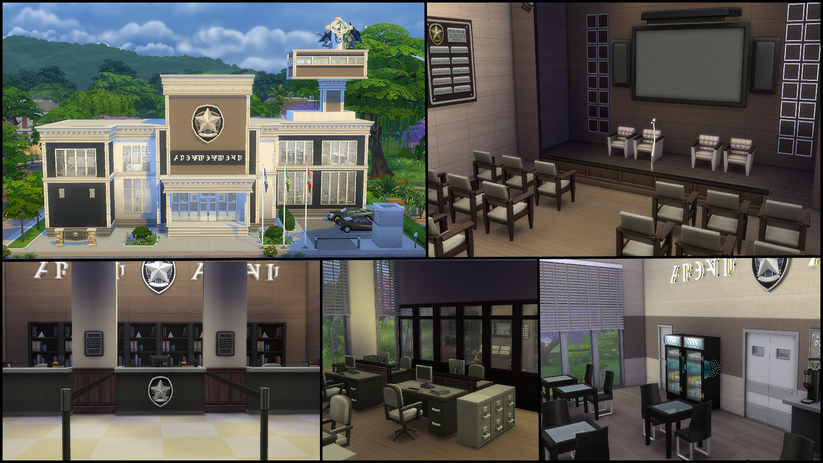 Sims  Get To Work Build Police Station