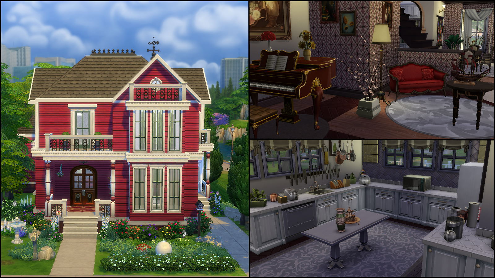 The sims 4 gallery spotlight simsvip for Charmed house blueprints