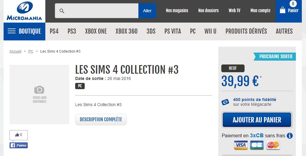 Micromania Sims 4 Bundle 3