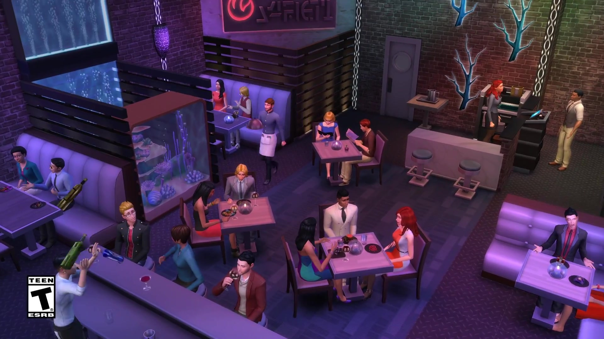 The Sims 4 Dine Out Own Restaurants Official Play Trailer 0104