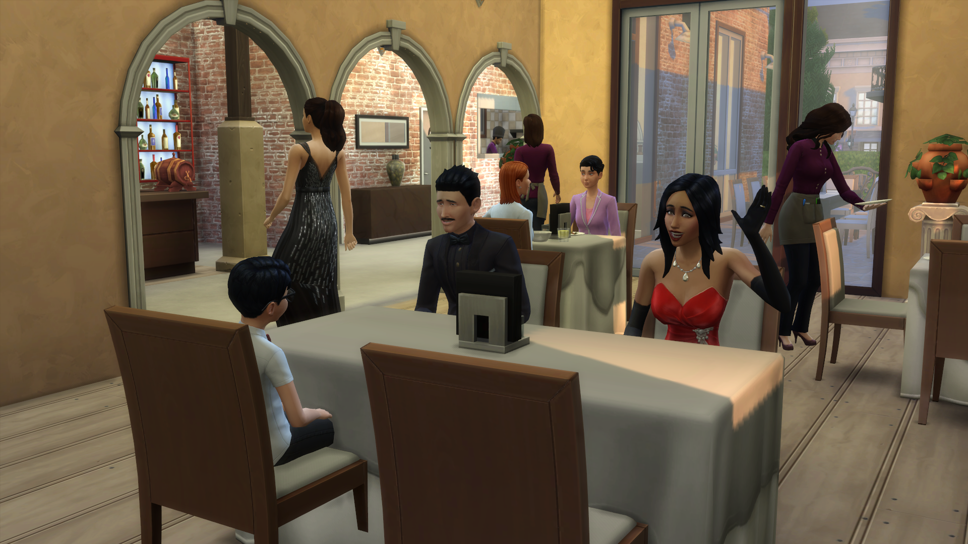 how to get 4 stars in dine out sims 4