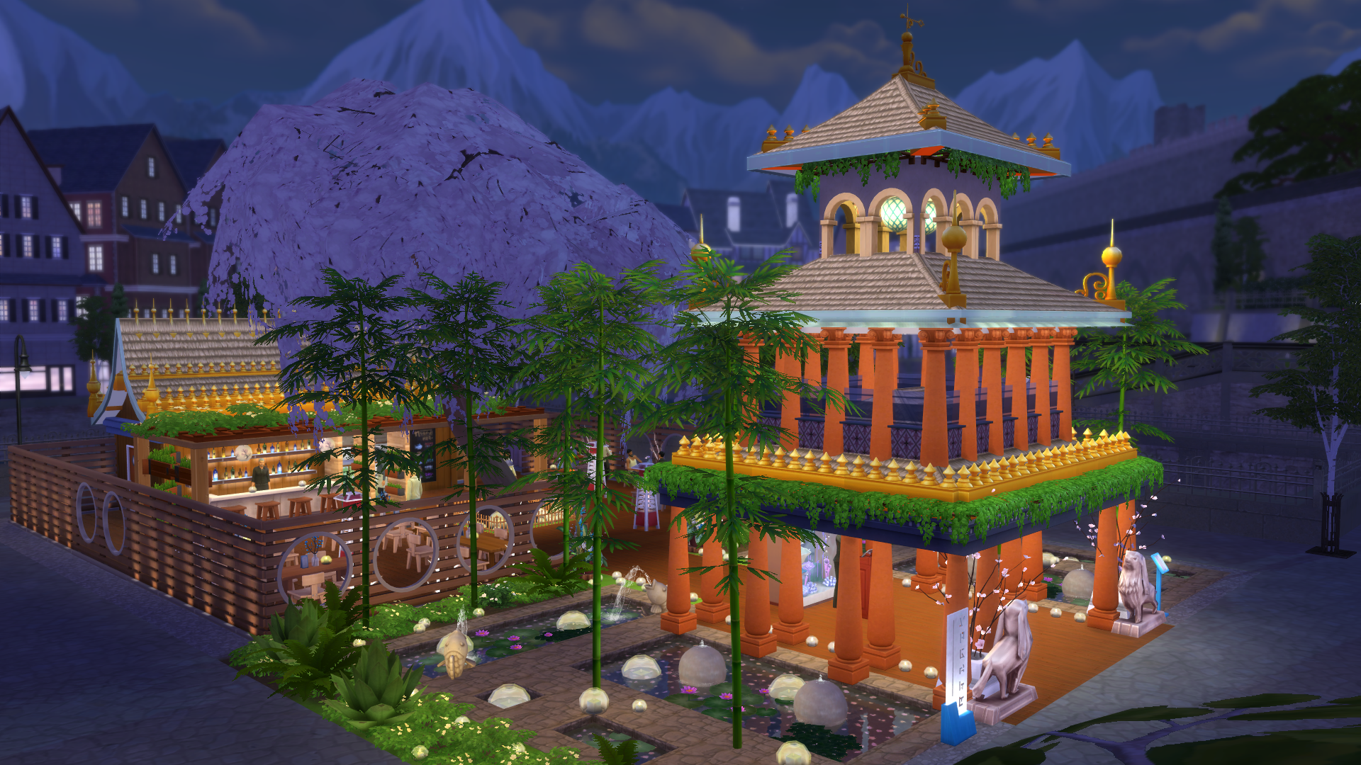 The Sims 4 Dine Out: Building Ideas
