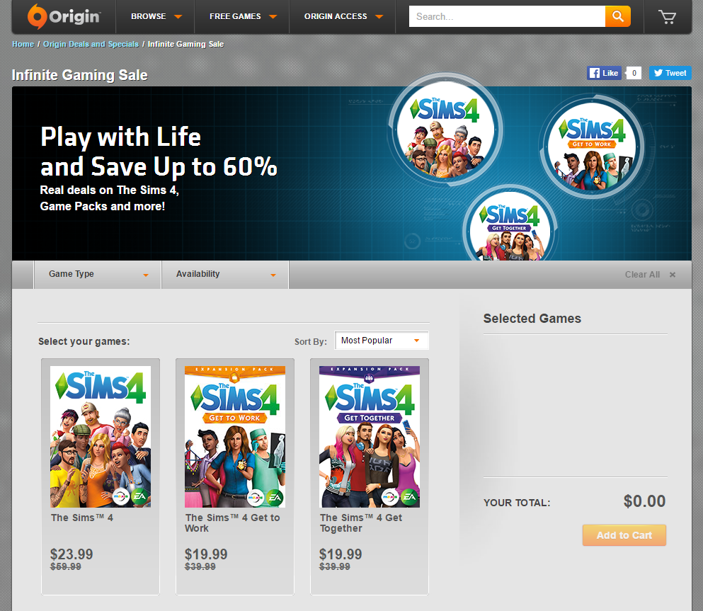 Mar 24,  · Re: How often does Origin have Sims 4 DLC on sale? «Reply #3 on: March 22, , PM» Origin does have regular sales, though the .