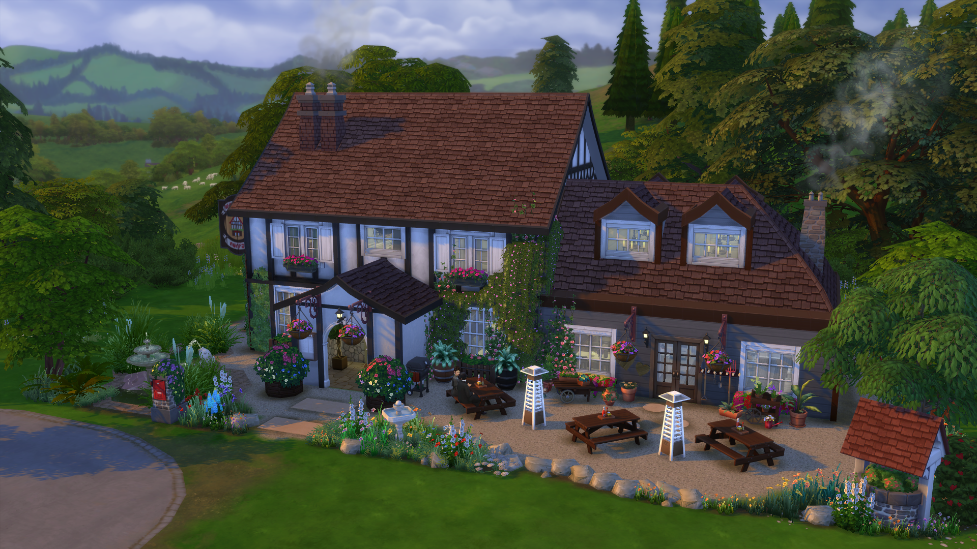 The sims 4 dine out building ideas simsvip for House build ideas