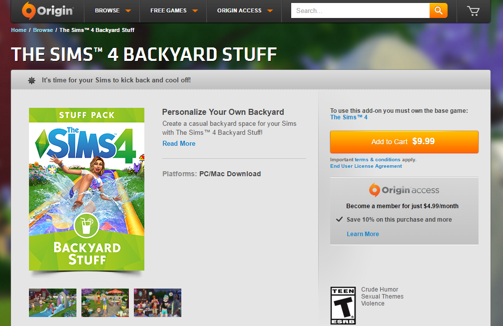 now available the sims 4 backyard stuff simsvip