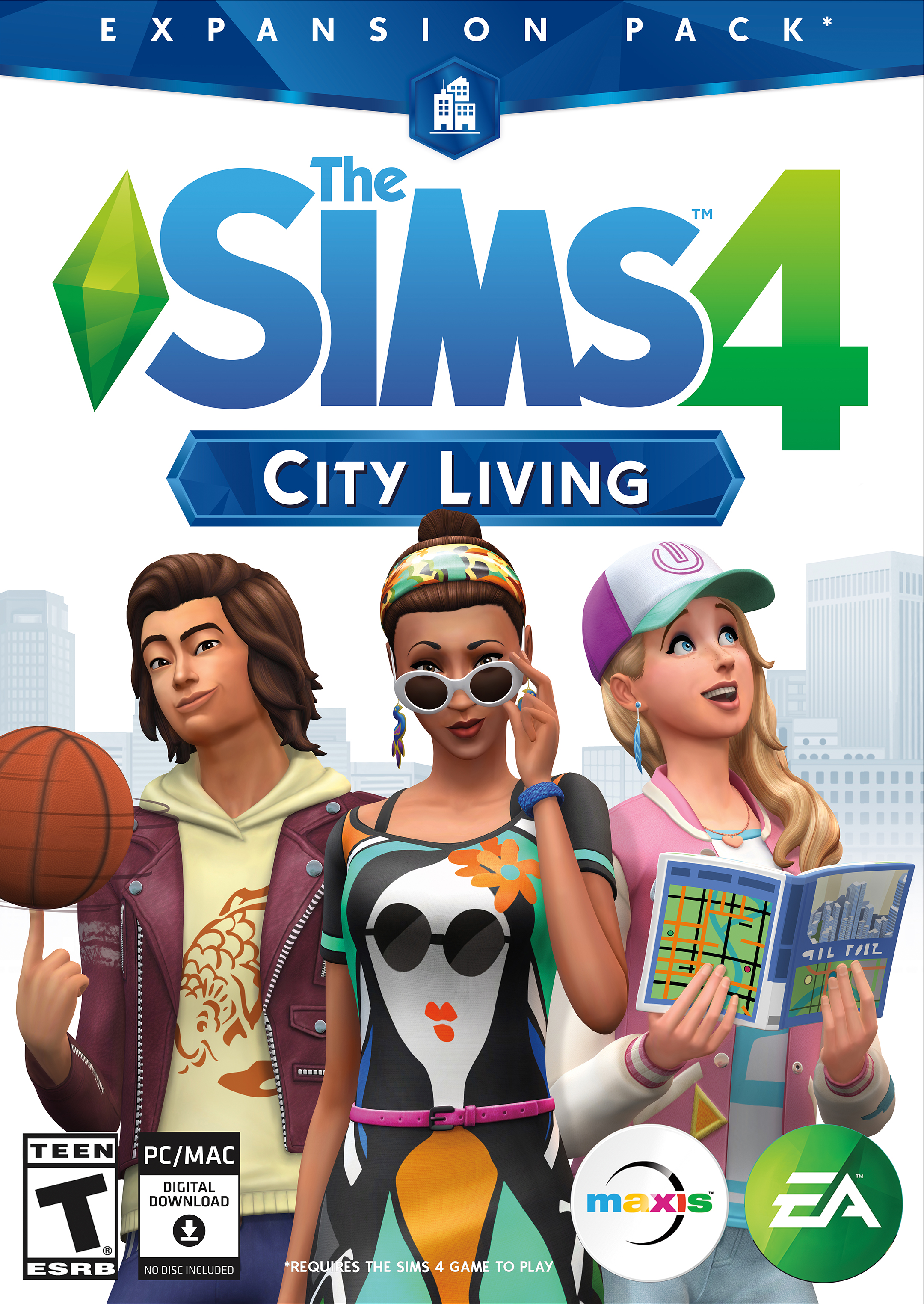 the sims 4 city living official box art logo and renders english simsvip. Black Bedroom Furniture Sets. Home Design Ideas