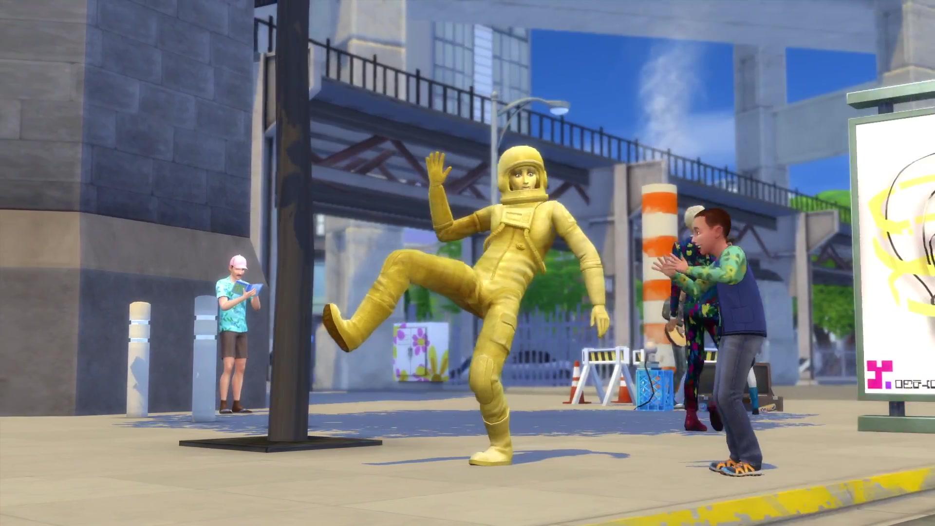 Výsledek obrázku pro the sims 4 city living gold statue