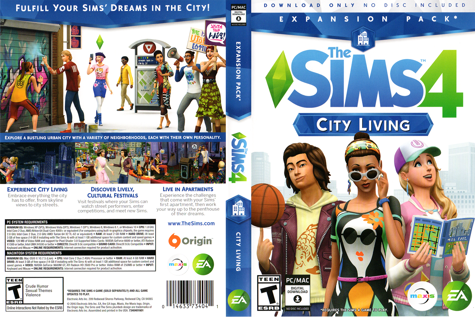 Unleash your imagination and create a world of Sims that's wholly unique. ... get  The Sims 4 Digital Deluxe, Dine Out Game Pack and Kids Room Stuff Pack to ...  Explore Vibrant Worlds – Your Sims can visit new communities to expand .... EA  MAY PROVIDE CERTAIN FREE INCREMENTAL CONTENT AND/OR UPDATES.