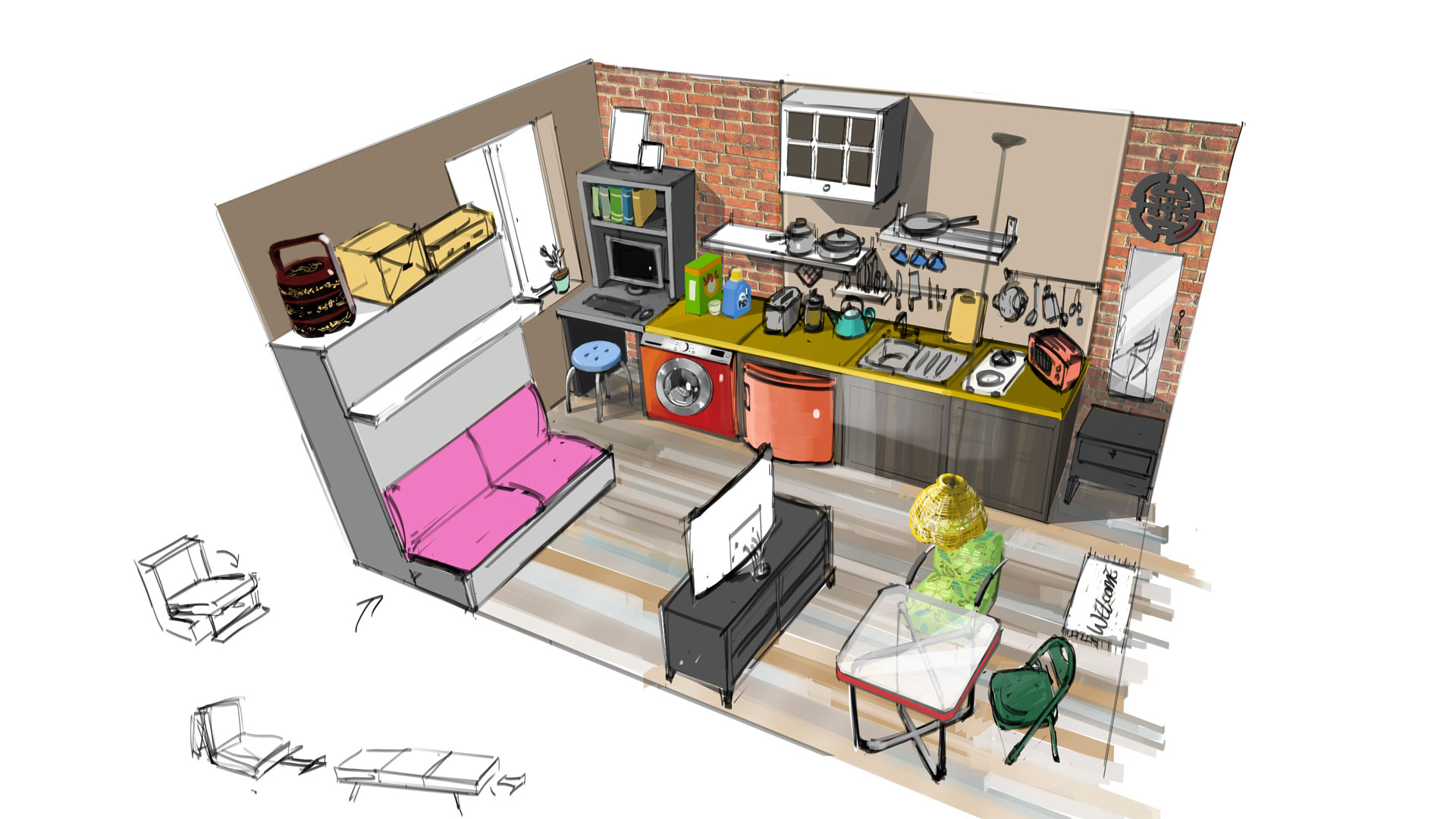 Concept to completion going deep on apartment technology for Appartement design sims 3