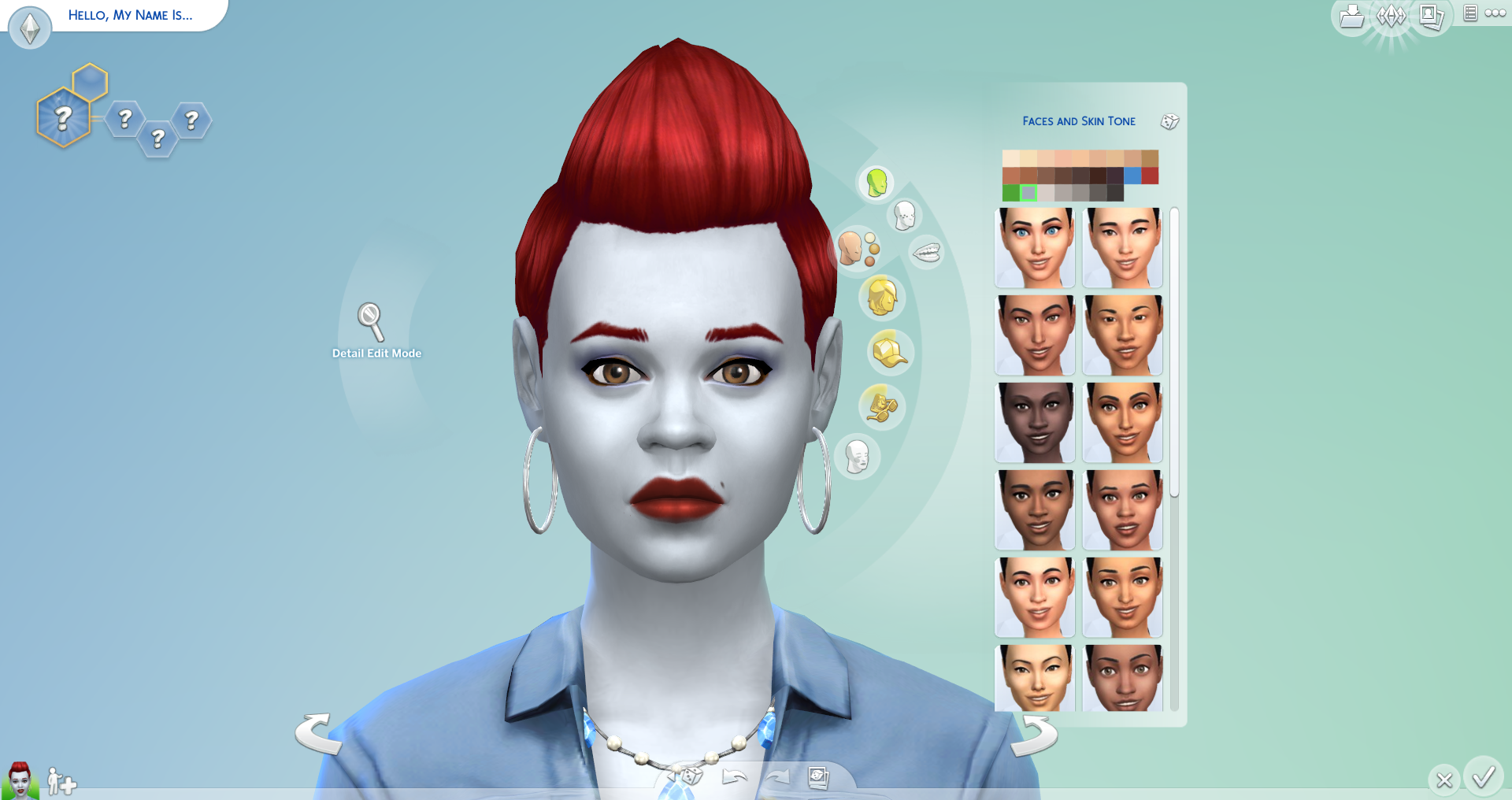 Upon Entering Createasim, You Now Have A Six Brand New Skin Tone Colors  To Choose From When Customizing Your Sims Six Shades Of Greyish