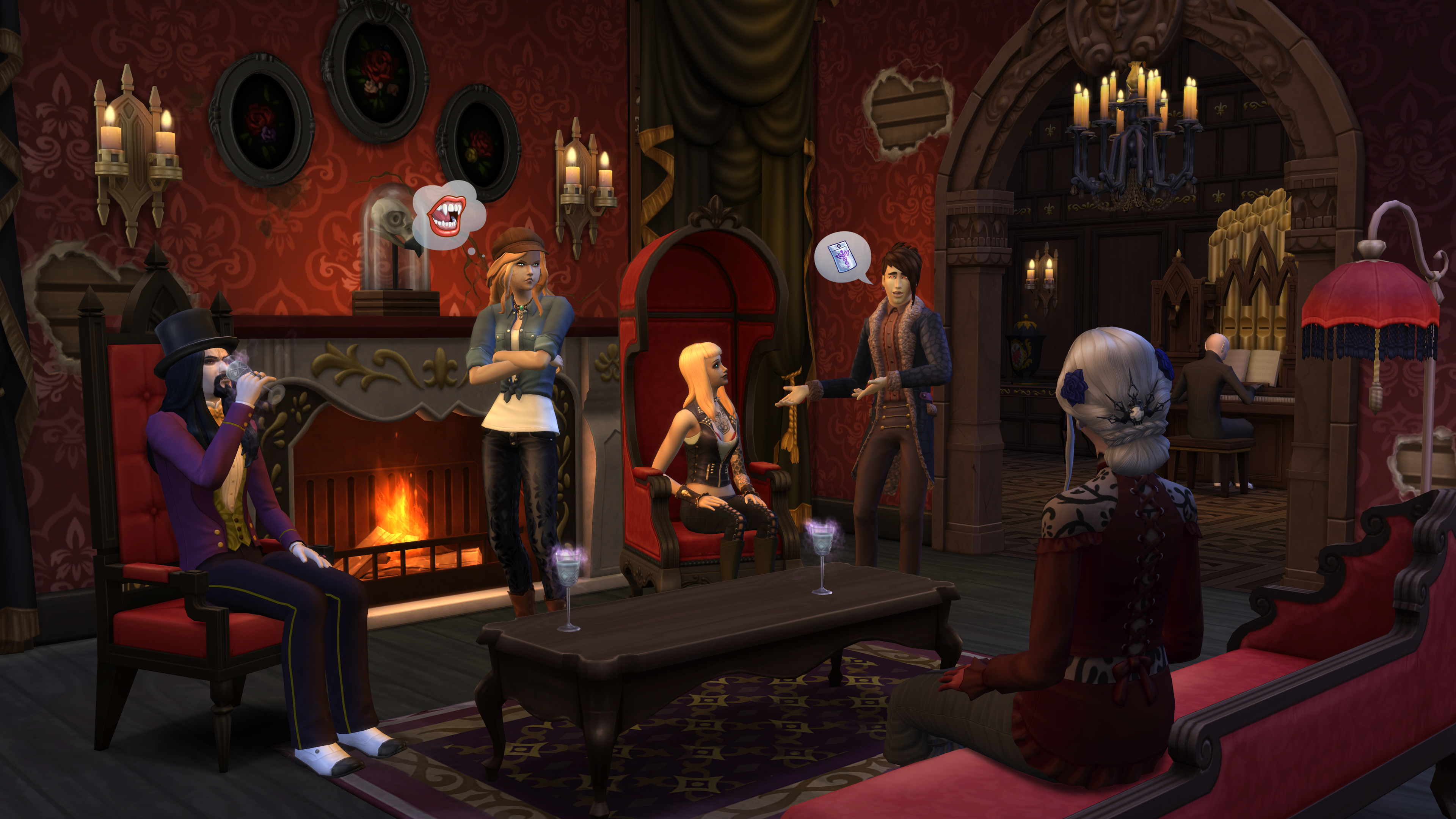 the sims 4 vampires new screenshot official. Black Bedroom Furniture Sets. Home Design Ideas